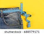 healthy lifestyle and dieting... | Shutterstock . vector #688579171