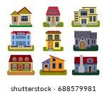 historical city modern world... | Shutterstock .eps vector #688579981