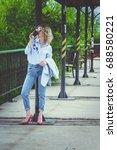 street fashion chic | Shutterstock . vector #688580221