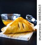 homemade breads or bun on wood... | Shutterstock . vector #688582615