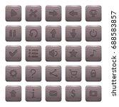set of 25 square rock  stone...