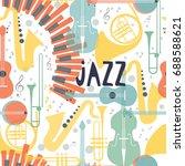 vector poster for the jazz...   Shutterstock .eps vector #688588621