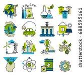 green energy  go green ... | Shutterstock .eps vector #688595161