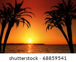 Stock photo illustration of a tropical island paradise perfect for vacation and destination concepts and much 68859541