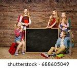 school children group  kids... | Shutterstock . vector #688605049
