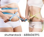 woman's body before and after... | Shutterstock . vector #688606591