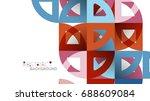 business presentation geometric ... | Shutterstock .eps vector #688609084