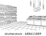 grocery store shop interior... | Shutterstock .eps vector #688611889