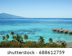 landscape and dream beach in... | Shutterstock . vector #688612759