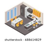 modern isometric luxury house... | Shutterstock .eps vector #688614829