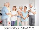active elder friends in...   Shutterstock . vector #688617175