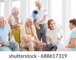 old people in sportswear... | Shutterstock . vector #688617319