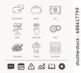 cash money  safe box and... | Shutterstock .eps vector #688617799