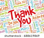 thank you word cloud background ... | Shutterstock .eps vector #688619869