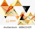 triangular low poly vector a4... | Shutterstock .eps vector #688621429