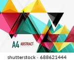 triangular low poly vector a4... | Shutterstock .eps vector #688621444