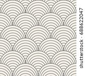 vector seamless rounded lines... | Shutterstock .eps vector #688622047