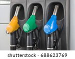 colorful fuel pumps fuel