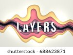 vector abstract background with ... | Shutterstock .eps vector #688623871