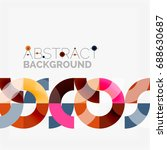 colorful rings on grey... | Shutterstock . vector #688630687