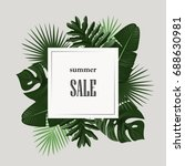 summer sale banner with green... | Shutterstock .eps vector #688630981