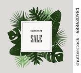 summer sale banner with green... | Shutterstock .eps vector #688630981