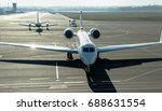 private jet planes  on the... | Shutterstock . vector #688631554