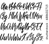 hand drawn dry brush font.... | Shutterstock .eps vector #688632715