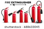 fire extinguisher set vector.... | Shutterstock .eps vector #688633045