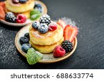 cottage cheese pancakes ... | Shutterstock . vector #688633774