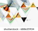 triangular low poly a4 size... | Shutterstock . vector #688635934