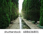 nature near people's dwelling | Shutterstock . vector #688636801
