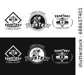 modern stylized logo for a... | Shutterstock .eps vector #688637401