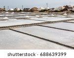 sea salt evaporation pond... | Shutterstock . vector #688639399