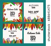 a set of square sale... | Shutterstock .eps vector #688641475