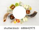 rosh hashanah  jewish new year... | Shutterstock . vector #688642975