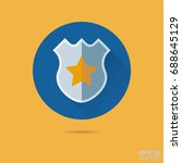 police badge flat design vector ... | Shutterstock .eps vector #688645129