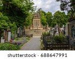 old cemetery vysehrad in prague ... | Shutterstock . vector #688647991