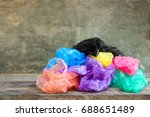 different plastic bags on...   Shutterstock . vector #688651489