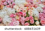 many color of rose artificial... | Shutterstock . vector #688651639