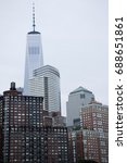 new york city. view from pier... | Shutterstock . vector #688651861
