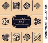 ornamental elements set.... | Shutterstock .eps vector #688654585