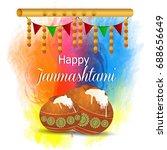 happy janmashtami. indian... | Shutterstock .eps vector #688656649