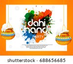 happy janmashtami. indian... | Shutterstock .eps vector #688656685