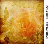 Art Autumn Roses Vintage...