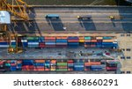 container container ship in... | Shutterstock . vector #688660291