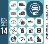 icon set  transport symbols | Shutterstock .eps vector #688663495