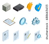 set of business icons in... | Shutterstock .eps vector #688665655