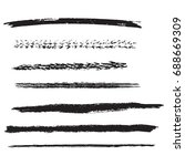 set of grunge stroke brushes.... | Shutterstock .eps vector #688669309