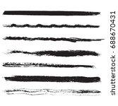 set of grunge stroke brushes.... | Shutterstock .eps vector #688670431